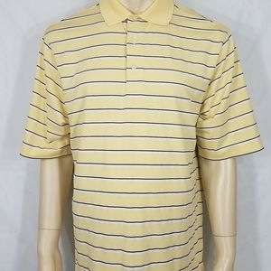 FootJoy yellow striped short sleeve polo Large